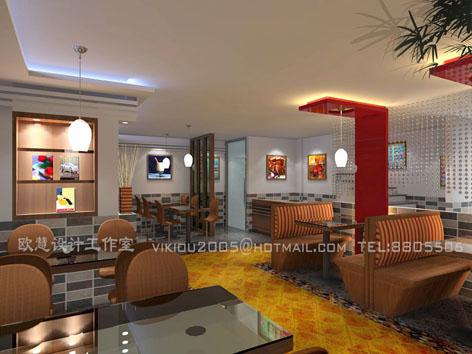 快餐厅_美国室内设计中文网