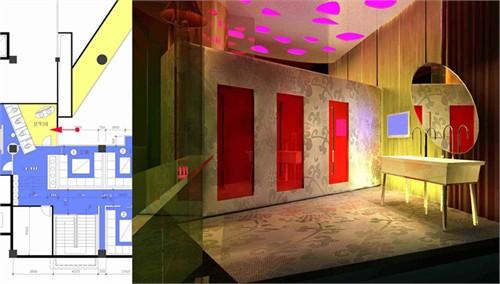 酒吧卫生间设计