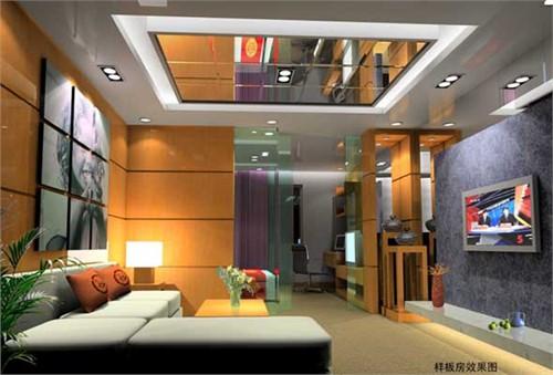单身公寓 温馨装修效果图; 单身公寓样板房居住空间