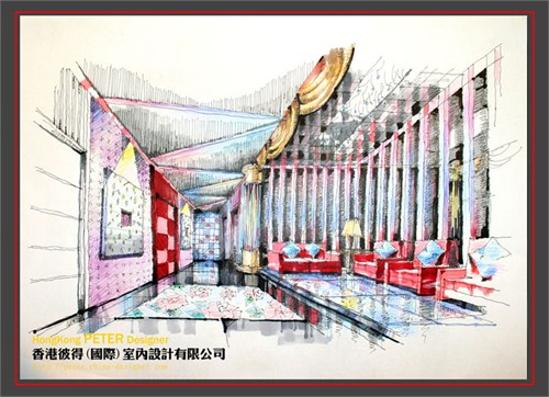 ktv休息间手绘_美国室内设计中文网