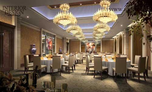 整个宴会厅的设计完全是欧式风格与现代超五星级酒店