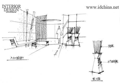 产品展示厅克服了结构墙体的约束,灵活的分割成两个展区,展台的圆与