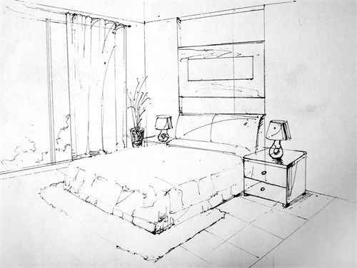 简单室内手绘图