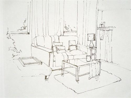 客厅手绘_美国室内设计中文网