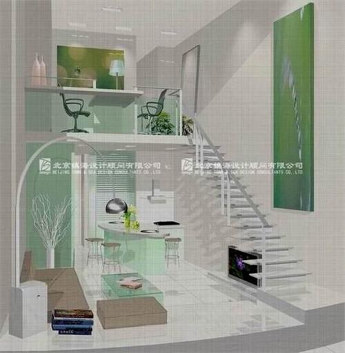 简洁的复式小户型_美国室内设计中文网