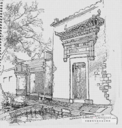 两点透视建筑手绘图图片分享