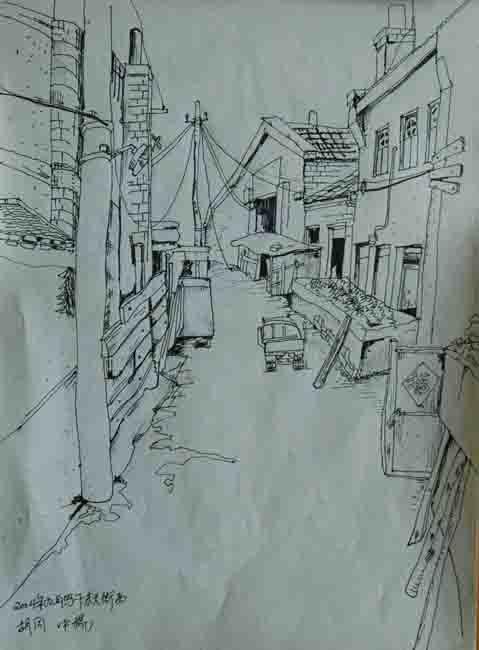 乌镇手绘速写图