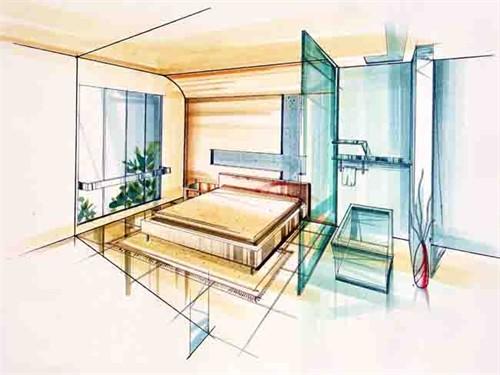 家居空间设计--手绘效果图