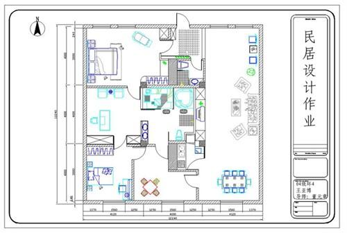 民居设计cad平面图_美国室内设计中文网