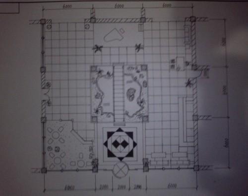 酒店大堂平面布置手绘图_美国室内设计中文网