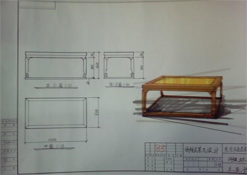 明式家具系列1手绘