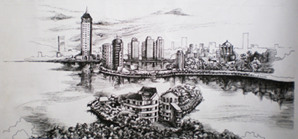 手绘3(钢笔)_美国室内设计中文网