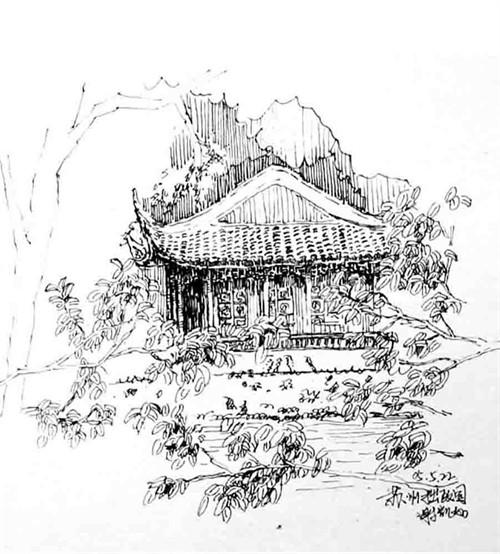 苏州建筑手绘线稿