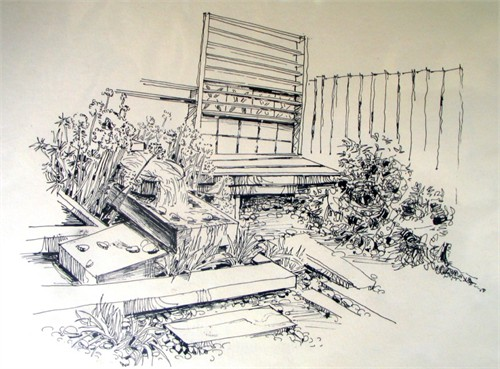 别墅手绘效果图5_美国室内设计中文网