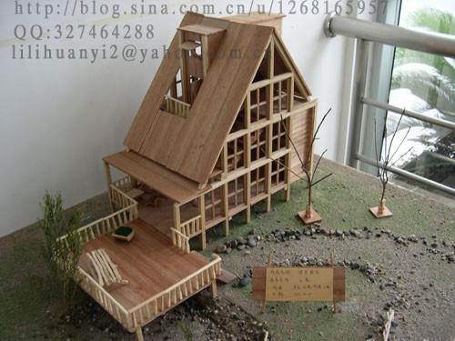 大学里的建筑模型课程作业