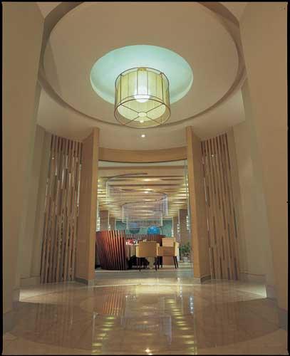 酒店餐厅木墙围造型图