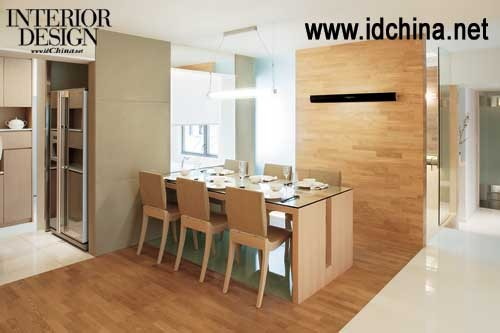 厨房和饭厅隔墙柜装修效果图