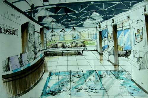 上海手绘地图 博物馆