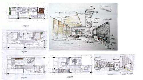 """空间中的"""" """"快题设计-城市山谷别墅"""