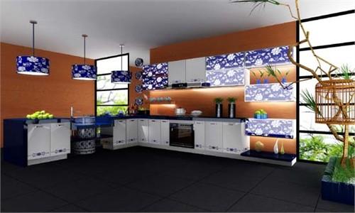 青花---厨房空间设计大赛_美国室内设计中文网