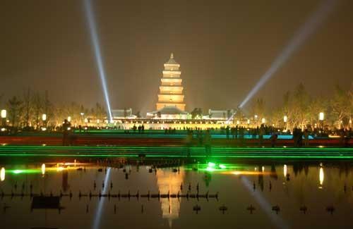 大雁塔北广场--夜景