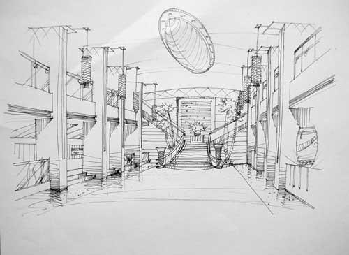 手绘练习_美国室内设计中文网
