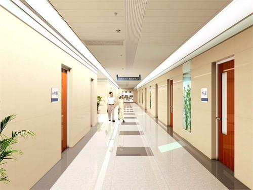 医院走廊设计图 室内设计效果图 高清图片
