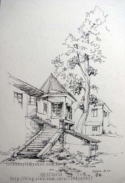 苏州博物馆手绘速写苏州博物馆速写苏州博物馆手绘