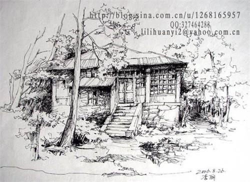 建筑速写2_美国室内设计中文网