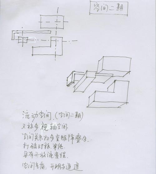 3,按照设计师的手绘图纸,将5件石材作品放进5个透明盒子中.