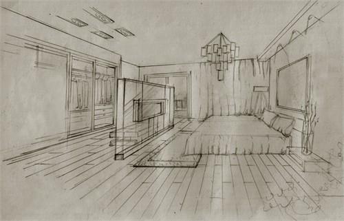 东方夏威夷别墅手绘手稿图片