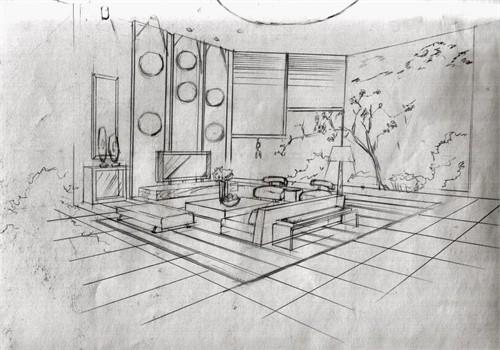 玉龙岛别墅手绘初稿