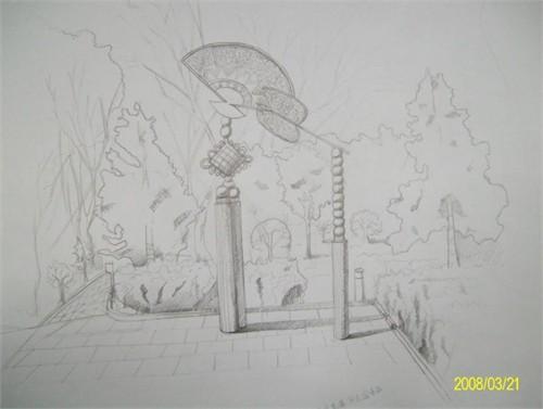 北京水立方手绘图