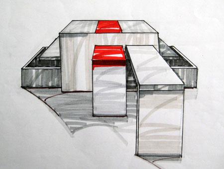 效果图1; 手绘茶几设计; 国外室内设计效果图