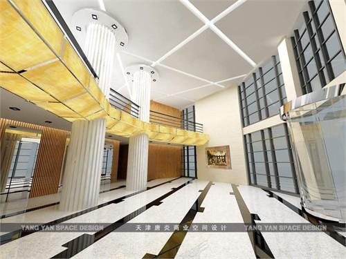 为商业办公空间大堂设计.图片