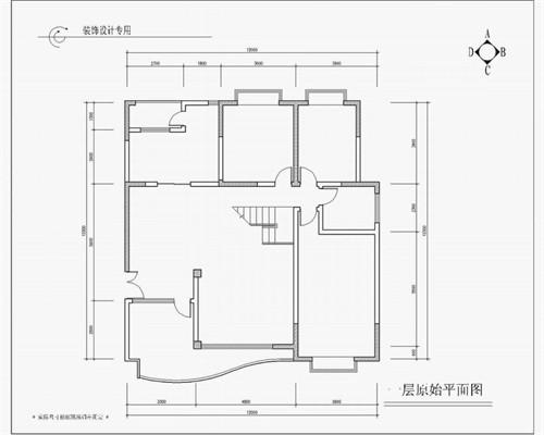 手绘饭店厨房平面图