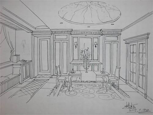欧式房屋手绘正面