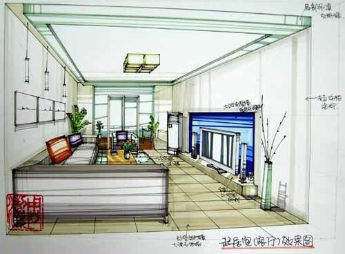 室內設計手繪效果圖_美國室內設計中文網