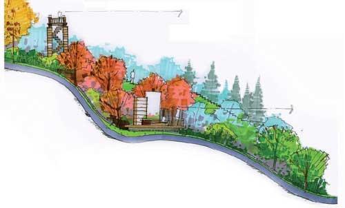 延安市凤凰小游园景观设计