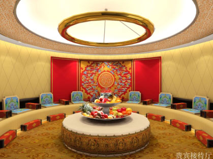 呼市飞机场贵宾接待厅_美国室内设计中文网