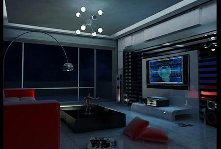 室内电视背景墙设计