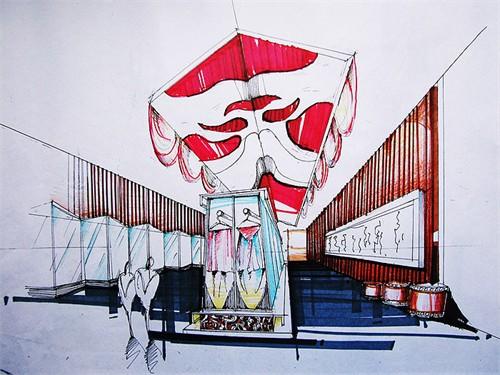 展厅手绘方案_美国室内设计中文网