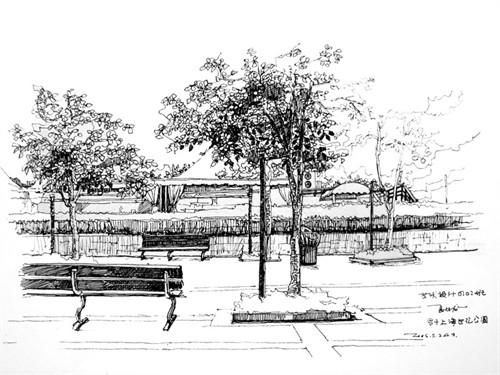 综合性公园案例手绘