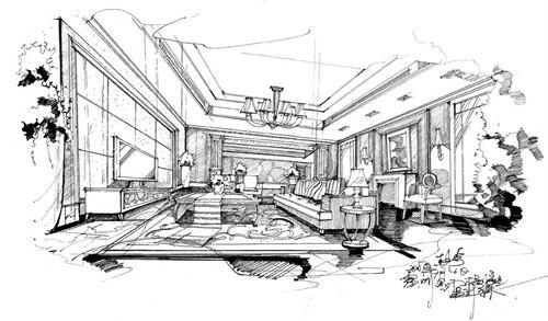 手绘设计搞_美国室内设计中文网