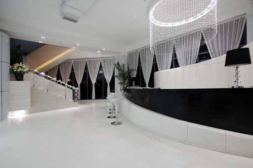 售楼部欧式钢琴展示区效果图