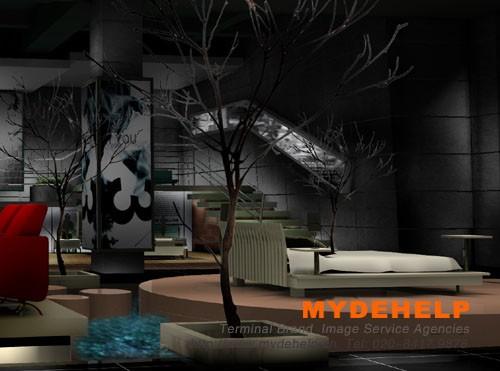 床垫厂-展厅装修设计和完工图
