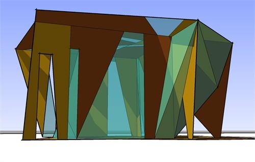 博物馆建筑 矢量图