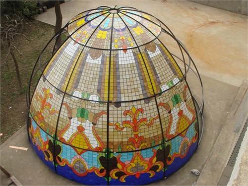 北京会所彩色镶嵌玻璃穹顶