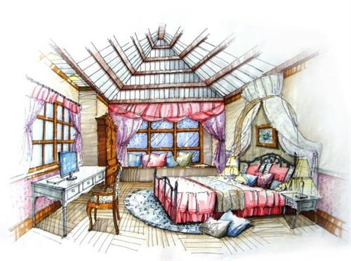 主卧手绘表现女儿房手绘表现老人房手绘表现