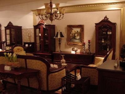 圣维斯豪华欧式家具店面装修设计方案; 家具展厅;